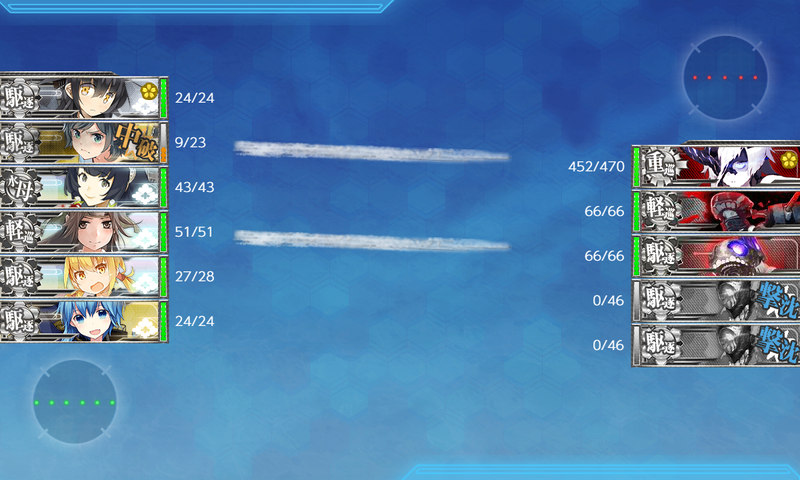 艦隊これくしょん/20梅雨夏イベ/E5-2甲/Zマス輸送ボス/重巡ネ級改IIナ級後期II先制雷撃