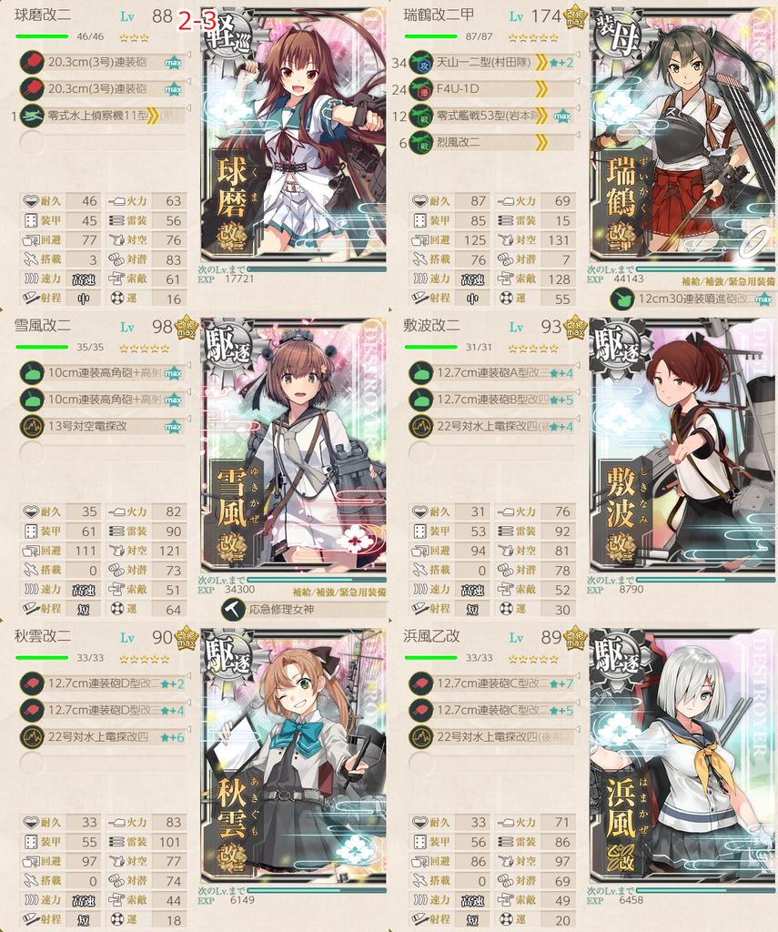 艦隊これくしょん/令和三年節分任務群/2-3編成