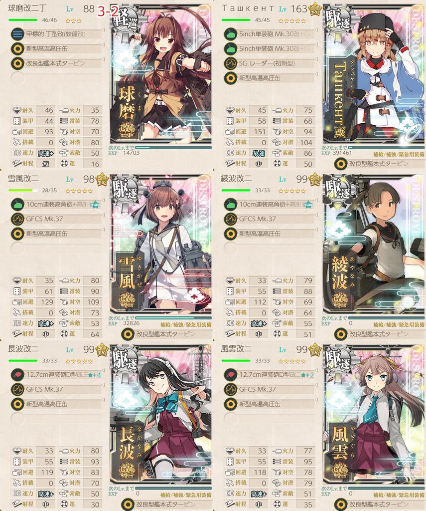 艦隊これくしょん/球磨改二任務/3-2高速+編成