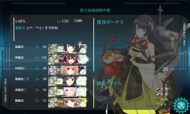 艦隊これくしょん/節分遠征任務/D1大成功/獲得資材
