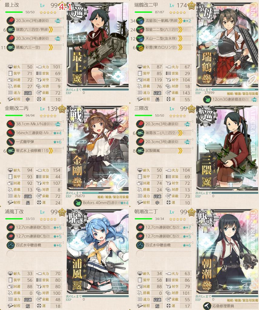 艦隊これくしょん/令和三年節分任務群/4-1編成