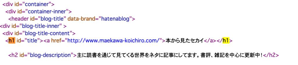ブログ名にh1タグが使われている