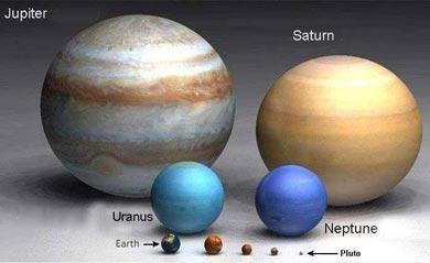 地球と木星の大きさ比較