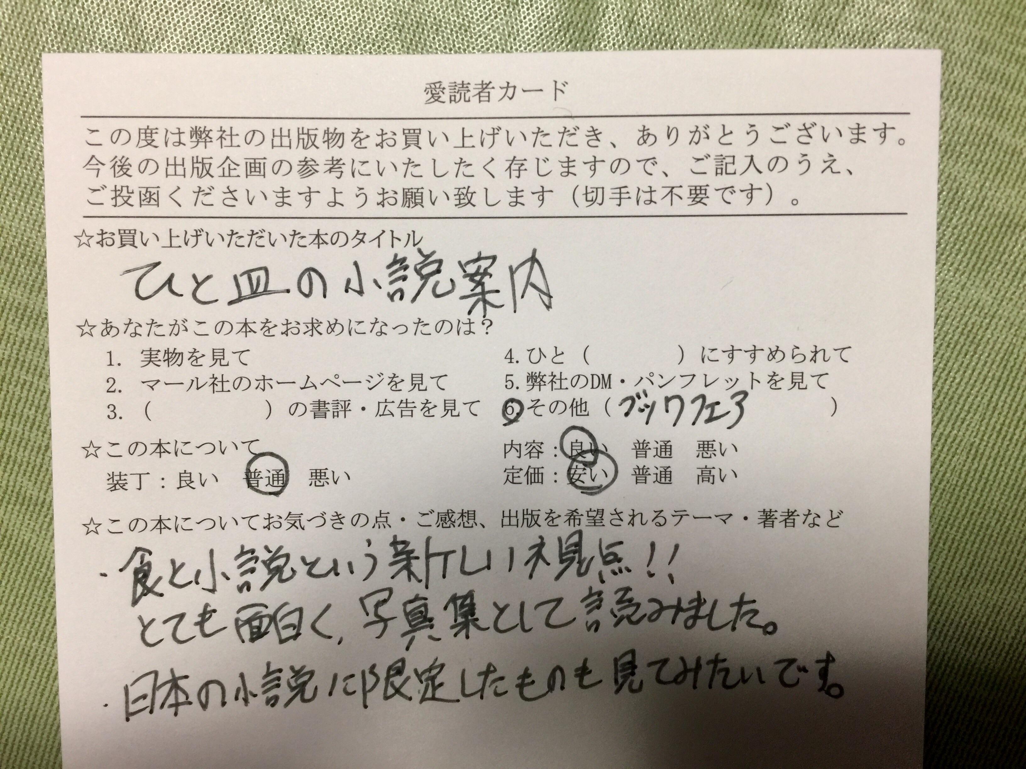 マール社 『ひと皿の小説案内』 料理