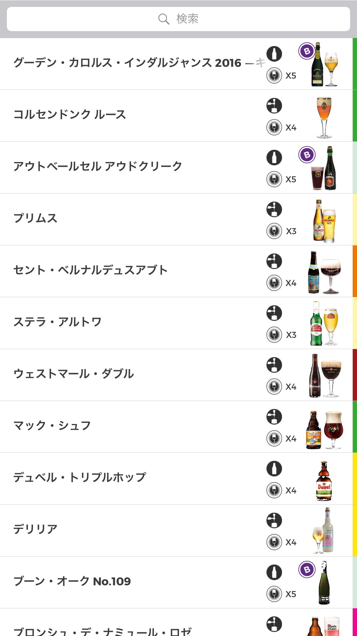 ベルギービール ビールの種類 感想