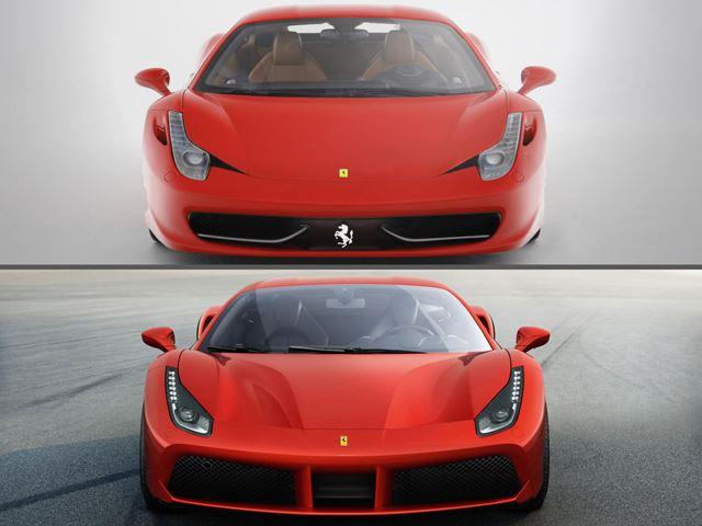 フェラーリ 458 488 違い