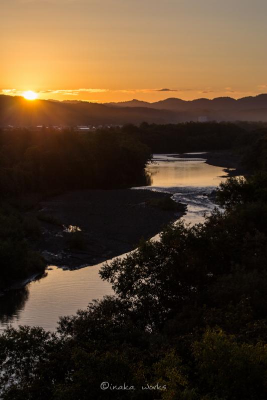遠別川と朝日