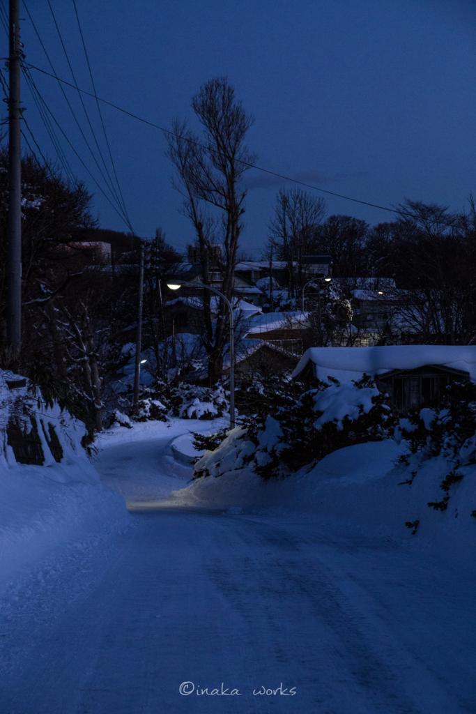ゲストハウス前の道