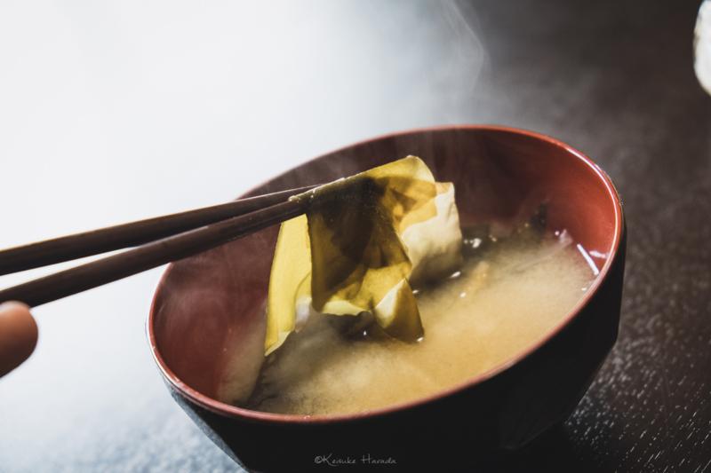 焼尻産銀杏草を使用した絶品味噌汁