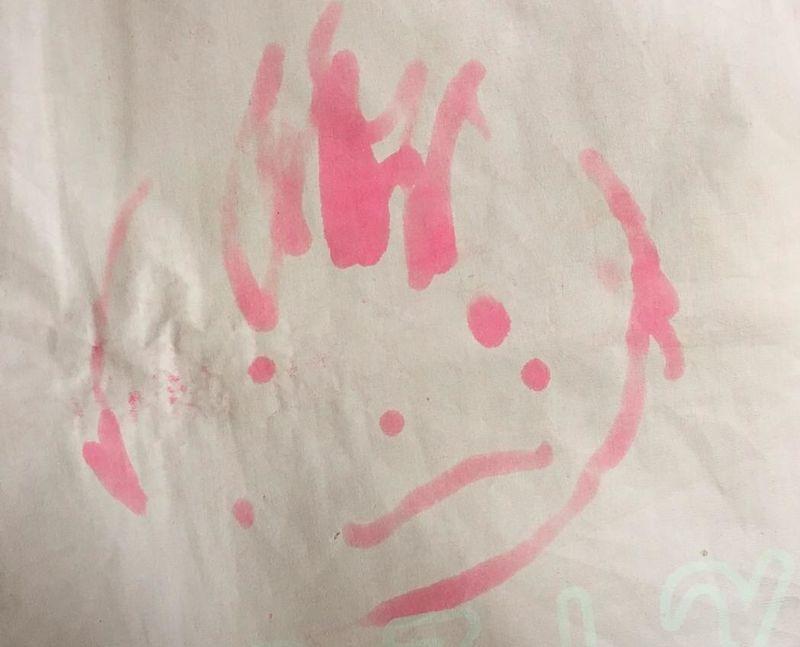水で書けるお絵かきセットを使った絵