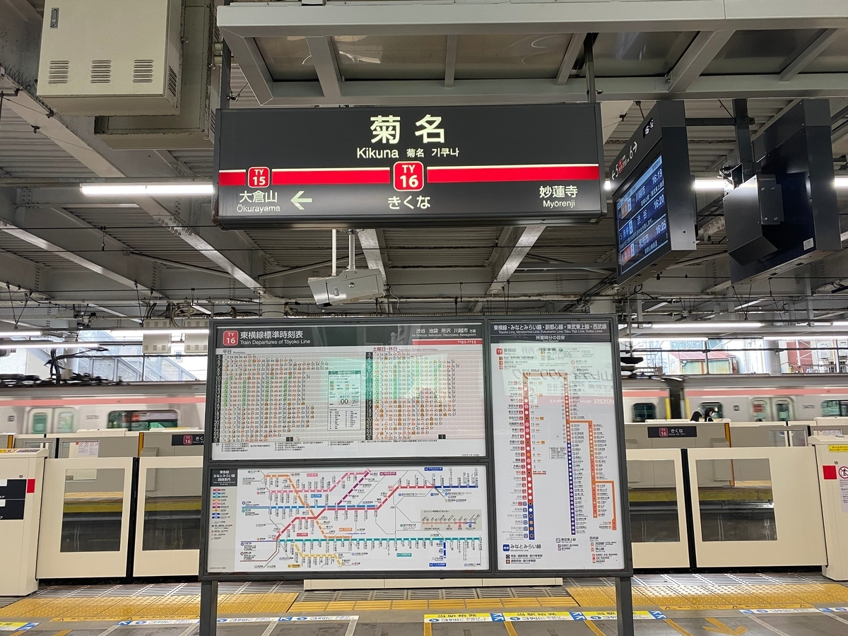 東急東横線菊名駅