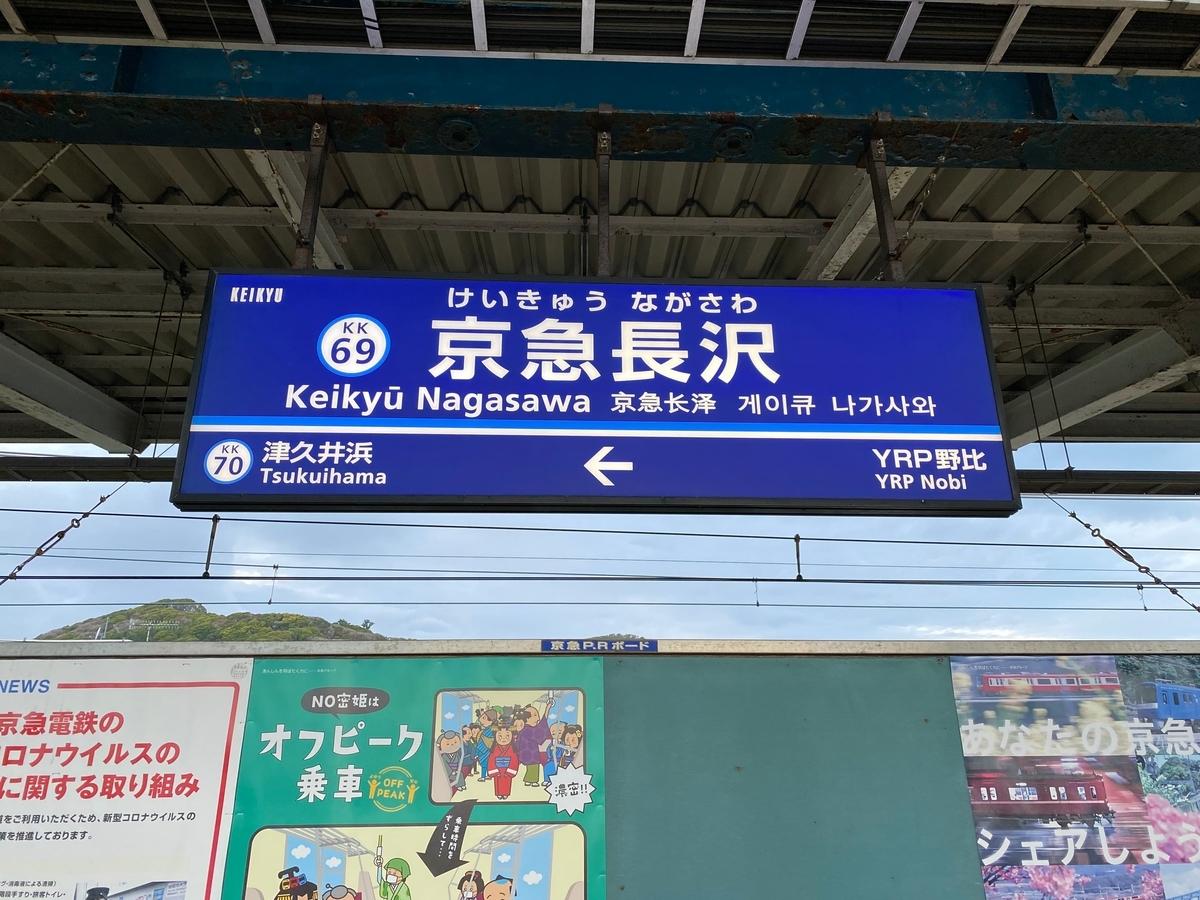 京急久里浜線「京急長沢駅」