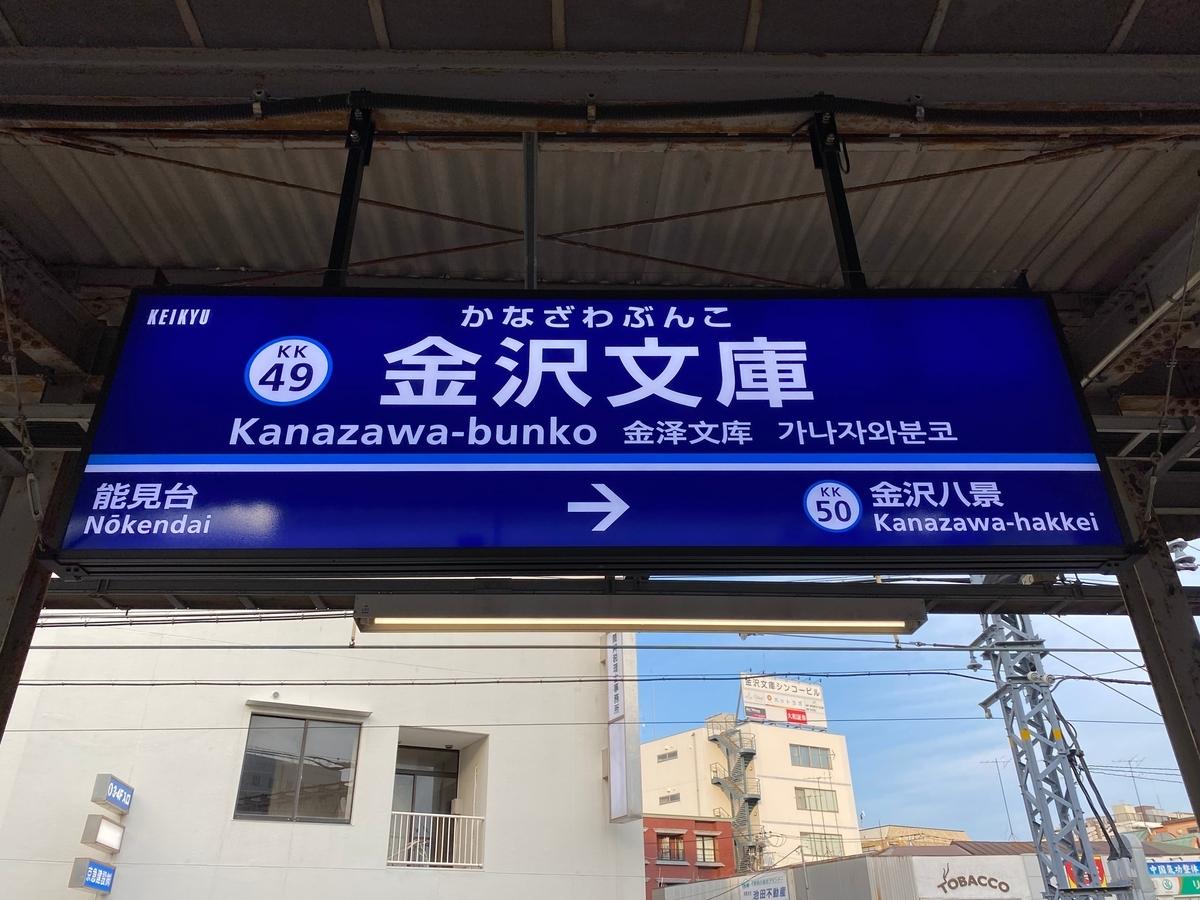 京急本線金沢文庫駅