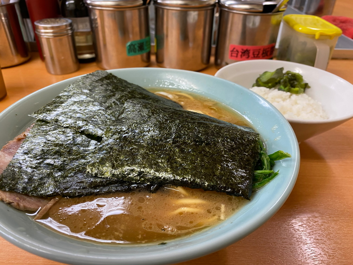 らすた チャーシュー麺+ライス少し