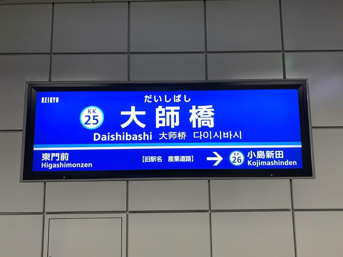 京急大師線「大師橋駅」(旧産業道路駅)