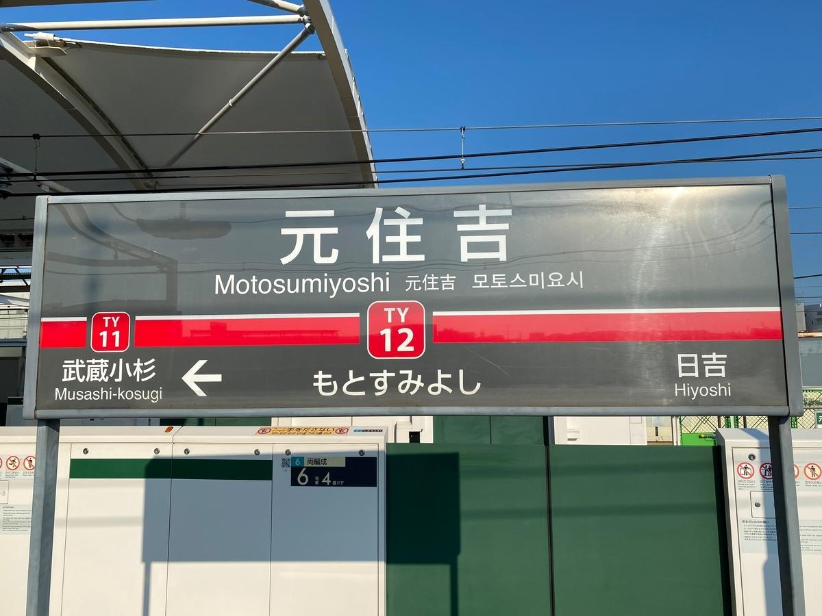 東急東横線「元住吉駅」