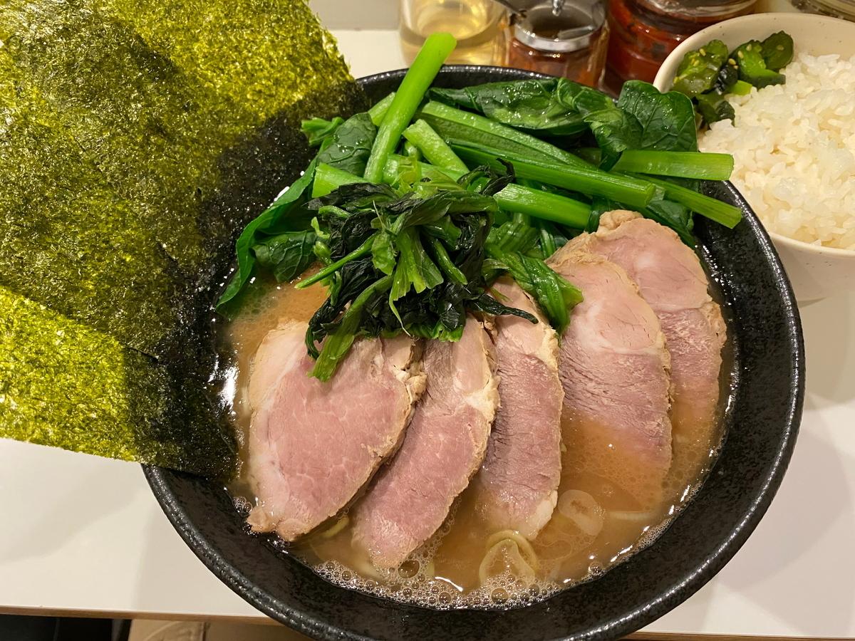 かわむら家 チャーシュー麺(並)+こまつな