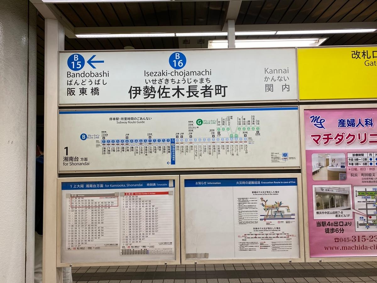 横浜市営地下鉄「伊勢佐木長者町駅」