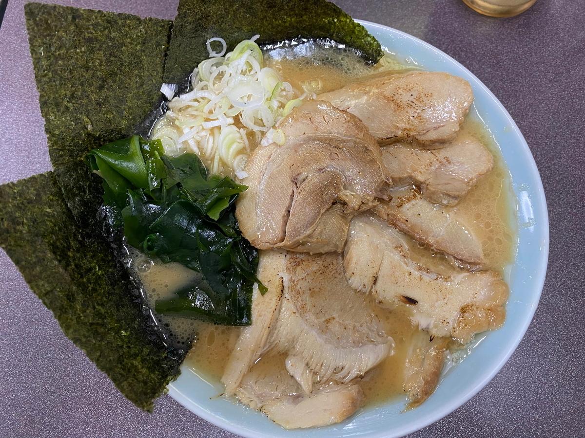 松平六浦店 ラーメン(醤油・太麺)+チャーシュー増し