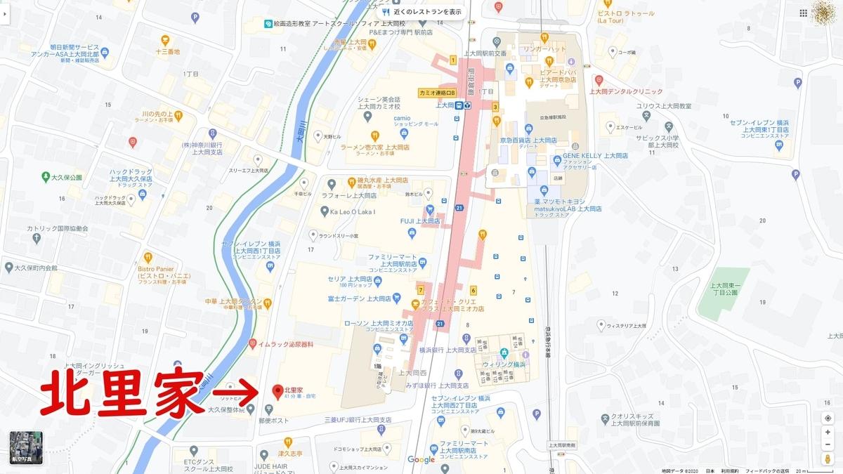 北里家 MAP