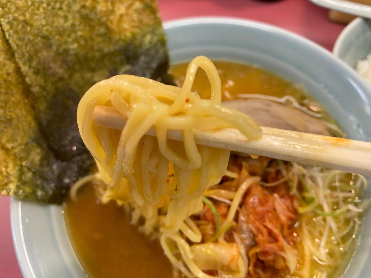 ラーメン大将六浦店 麺