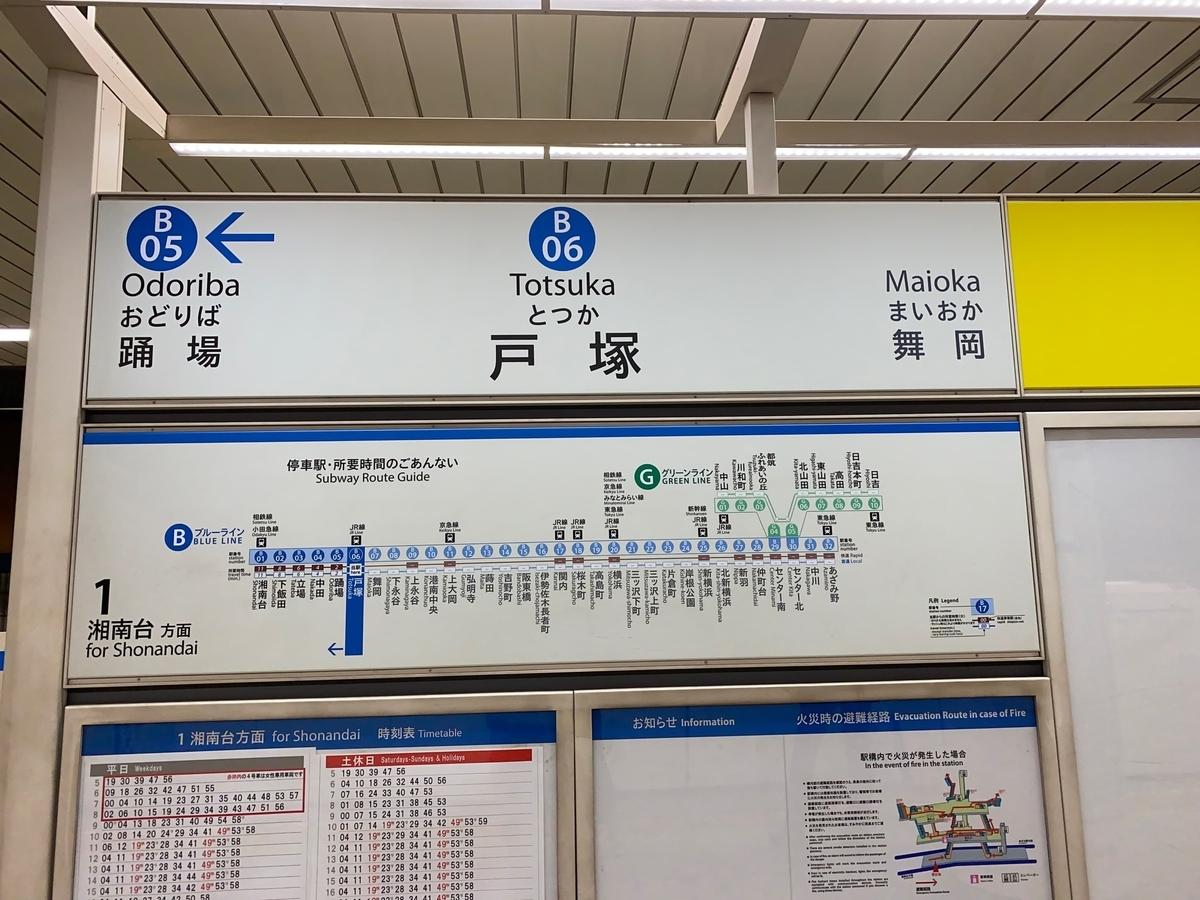 横浜市営地下鉄ブルーライン「戸塚駅」