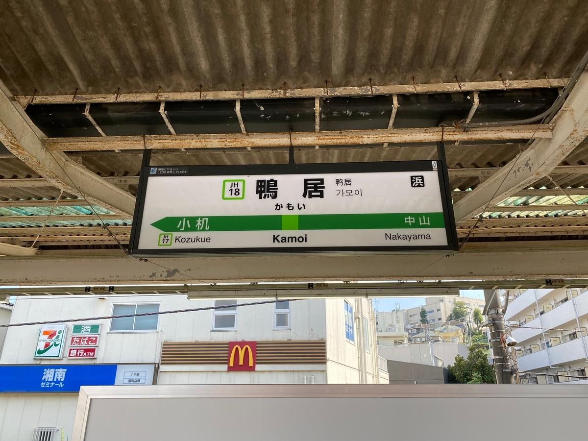 JR横浜線「鴨居駅」