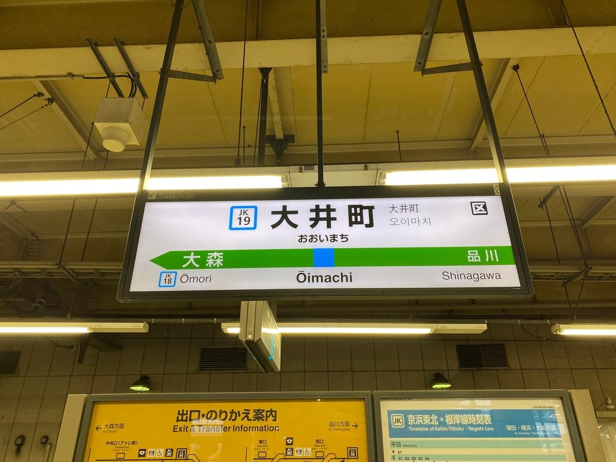 JR「大井町駅」