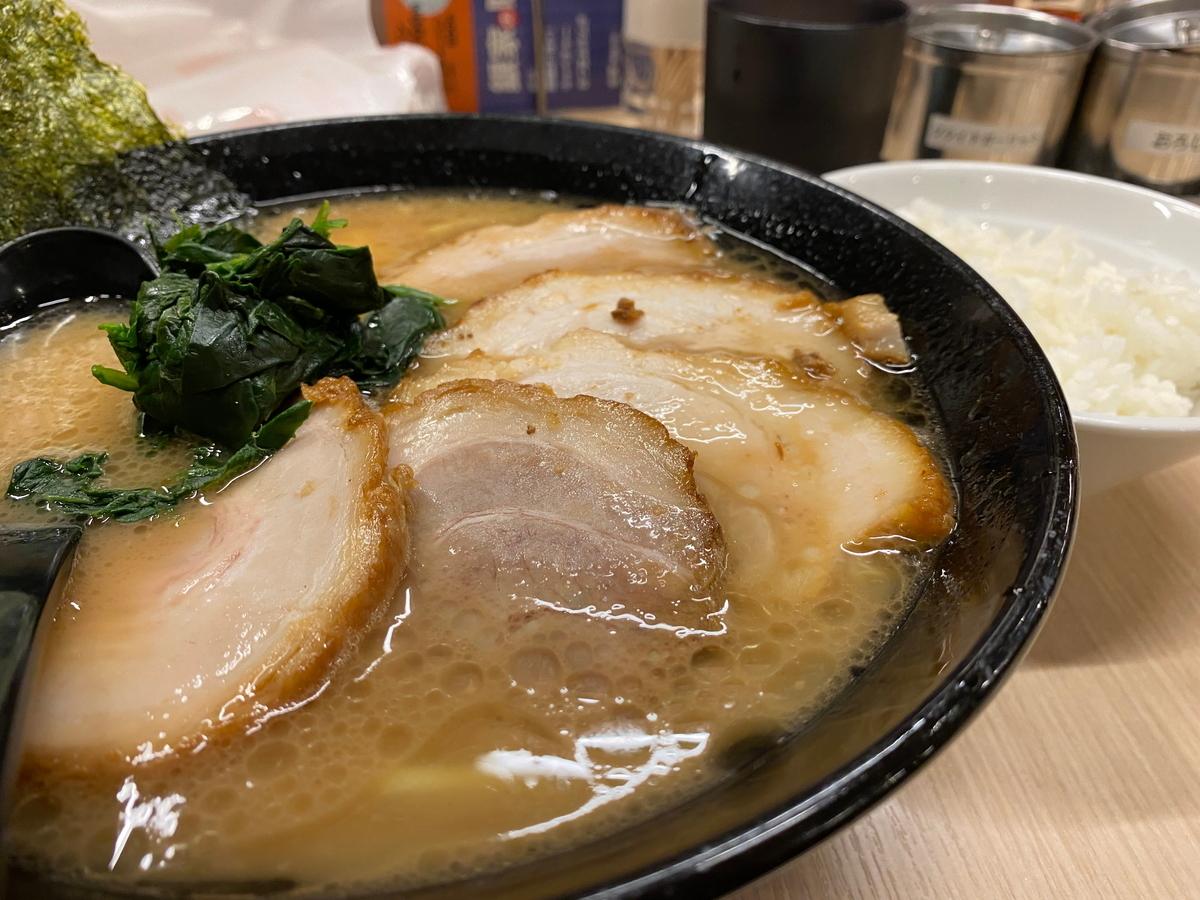 銀家大和店 チャーシュー麺+ライス小