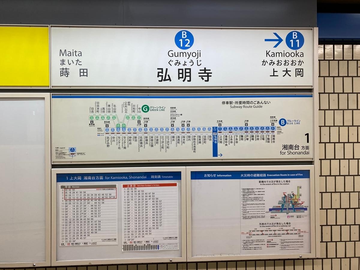 横浜市営地下鉄ブルーライン「弘明寺駅」