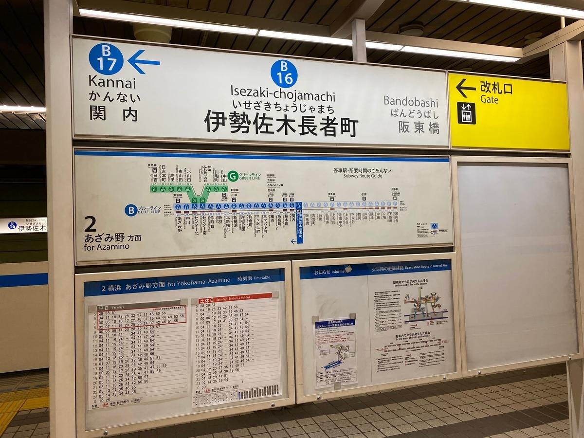 横浜市営地下鉄ブルーライン「伊勢佐木長者町駅」