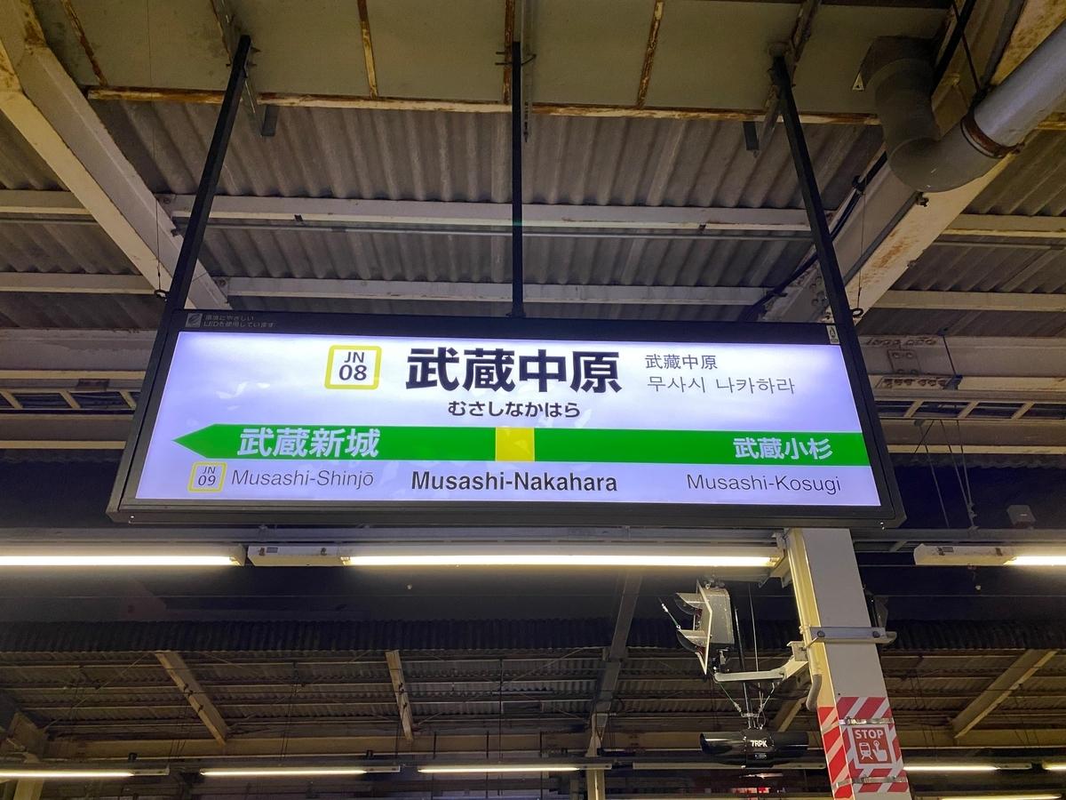 JR南武線「武蔵中原駅」