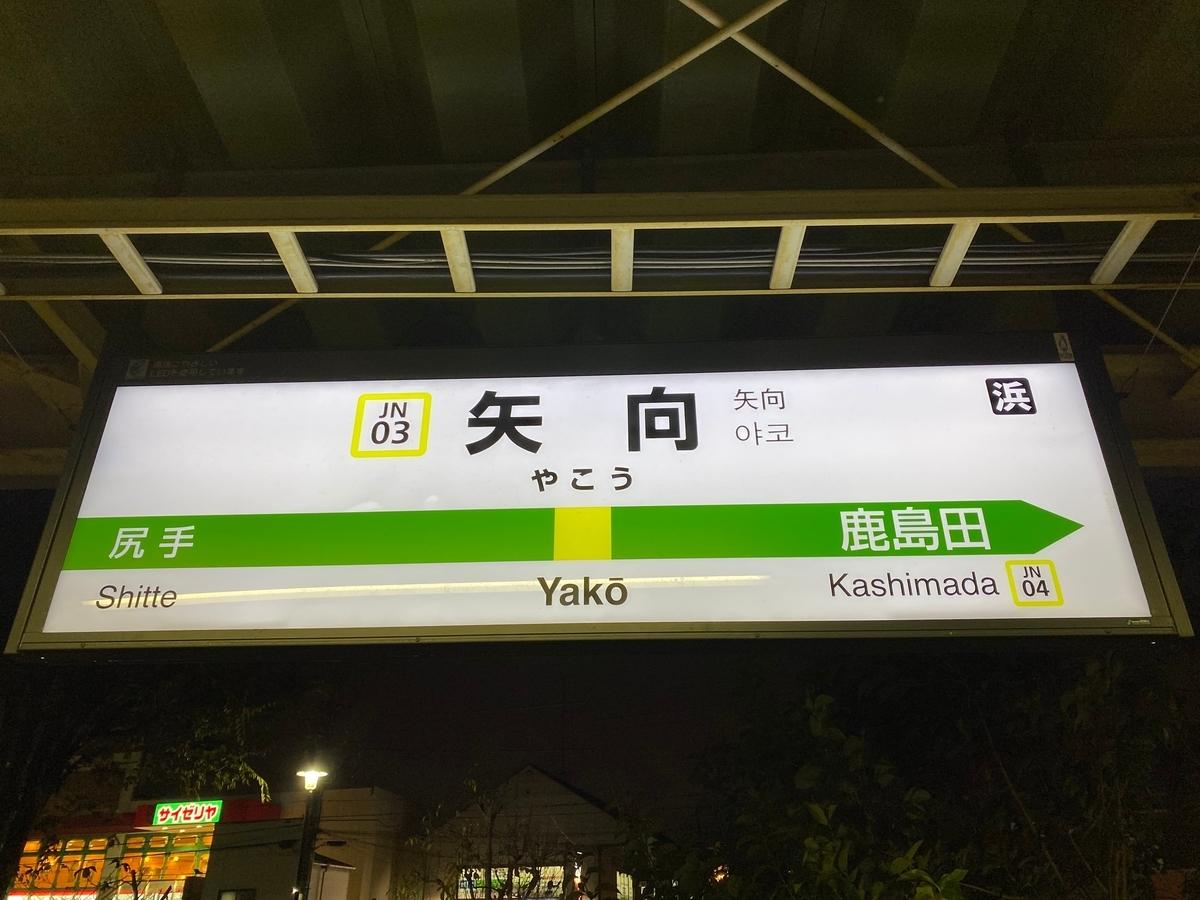 JR南武線「矢向駅」