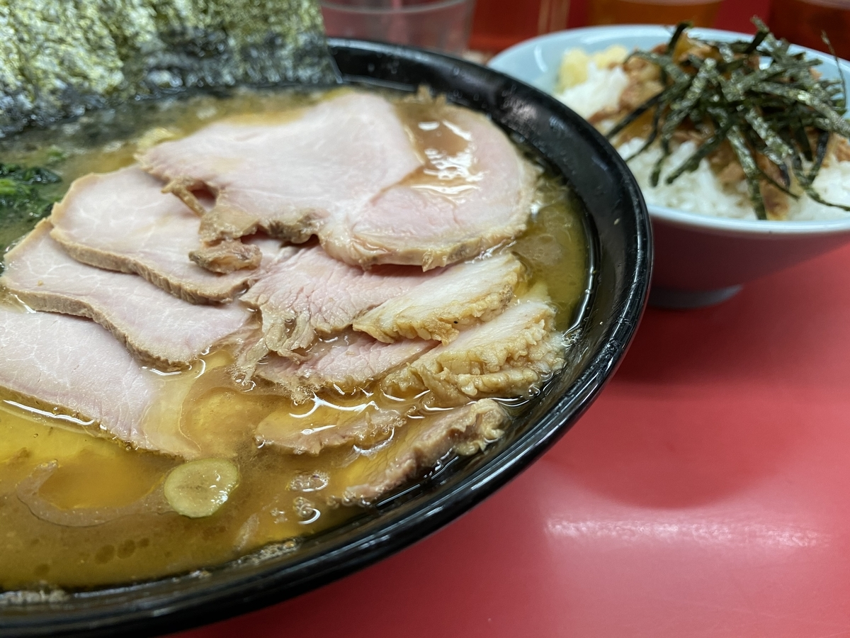 杉田家 チャーシューメン(930円)+まぶし丼(150円)