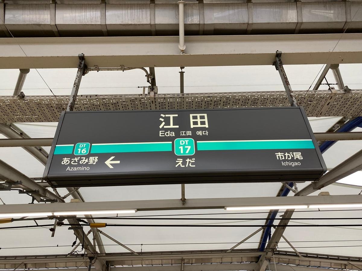 東急田園都市線「江田駅」