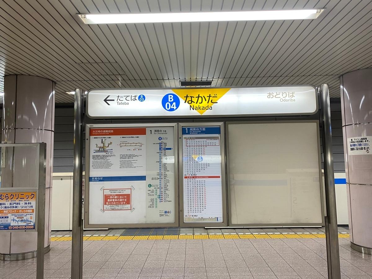 横浜市営地下鉄ブルーライン「中田駅」