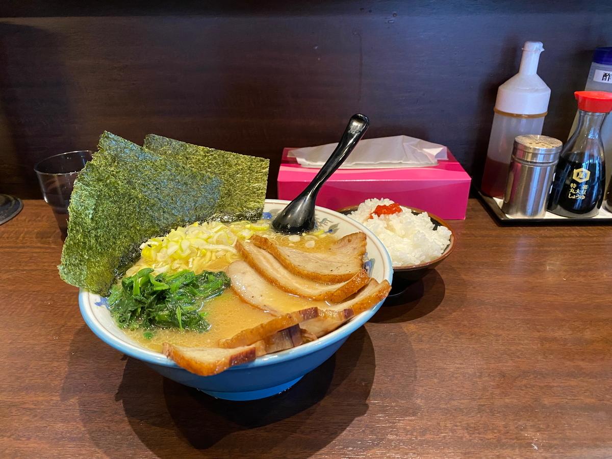 麺屋めんりゅう チャーシューめん(1070円)+半ライス(100円)
