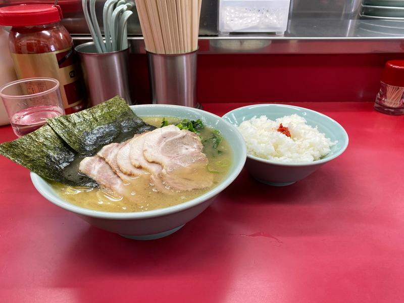 ラーメン大将本店 チャーシューメン(850円)+ライス(100円)