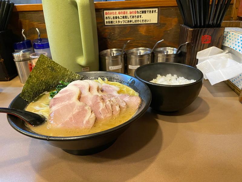 誠屋大森山王店 太麺大盛(700円)+チャーシュー(250円)+白飯(150円)