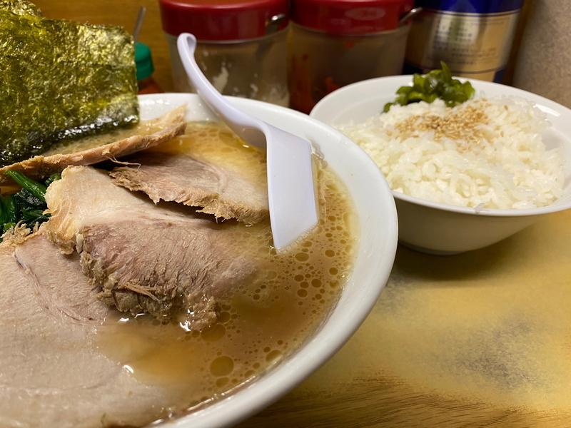 たかさご家本店 チャーシュー麺並(900円)+ライス(100円)