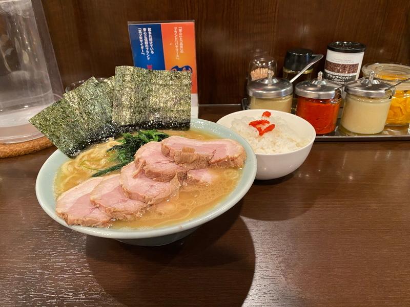 いずみ家 らーめん並(750円)+チャーシュー(250円)+ライス(100円)