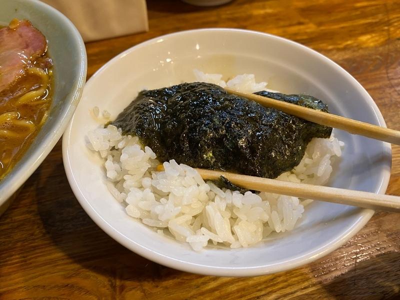 麺屋庄太六浦総本店 海苔巻きライス