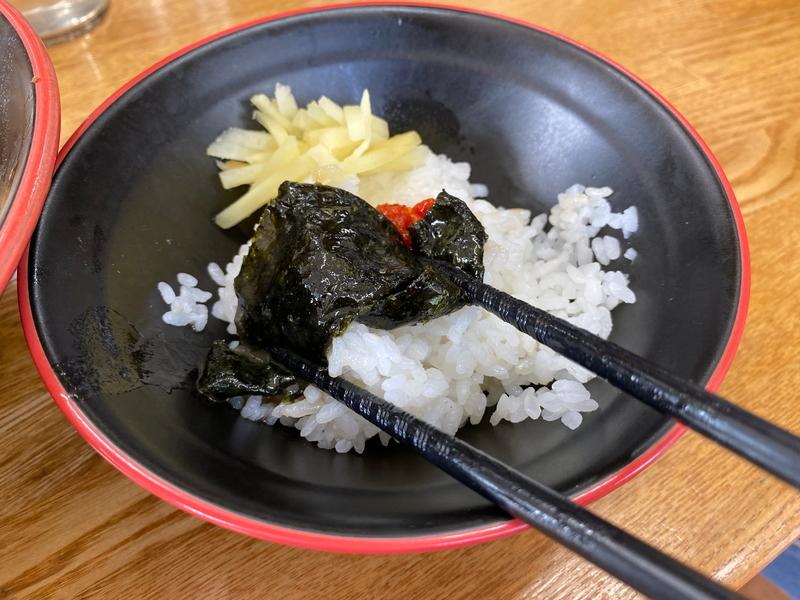 麺家紫極 海苔巻きライス