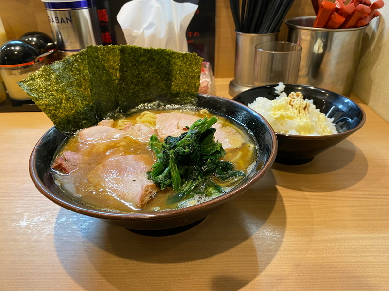 皇綱家 チャーシューラーメン(980円)+ライス食べ放題(100円)