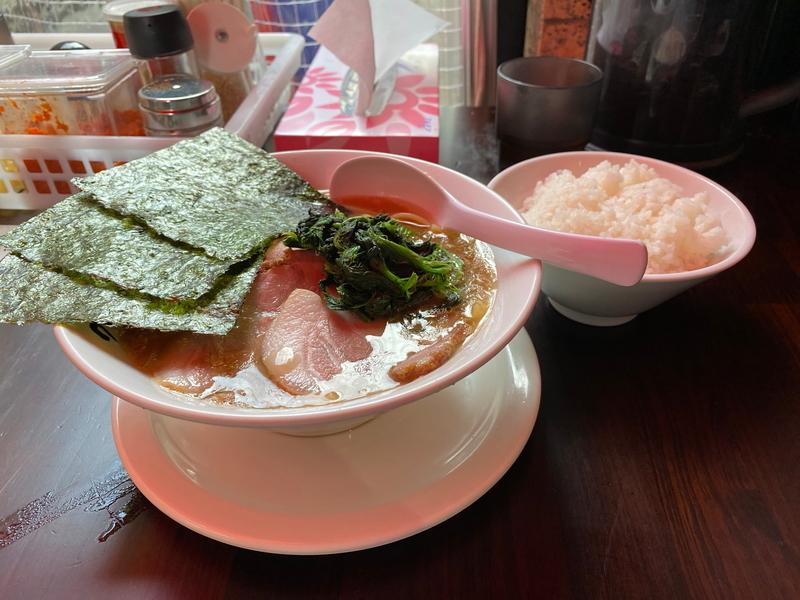 つばさ家立川店 チャーシューメン(970円)+ミニライス(120円)