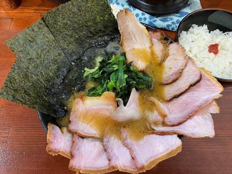 天王家 チャーシューめん+スモークロース+スモークロース+トロトロバラ肉