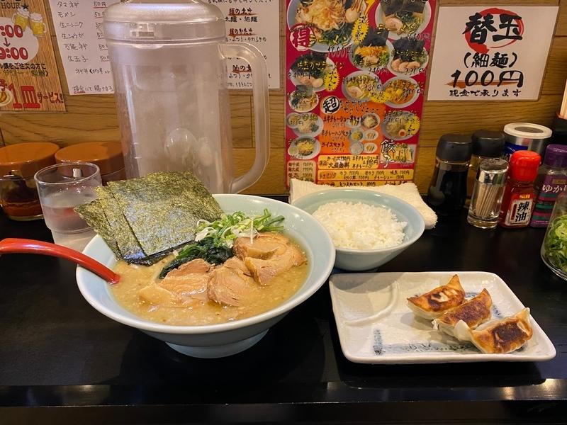 中川家大熊店 チャーシューメン(990円)+ライスセット(250円)