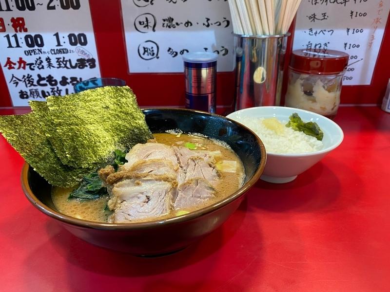 谷瀬家 ちゃーしゅーめん(900円)+ライス(無料)
