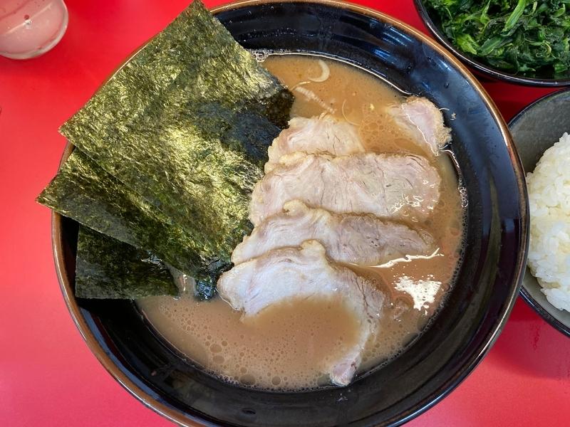 山本家 チャーシューメン並+ホウレン草