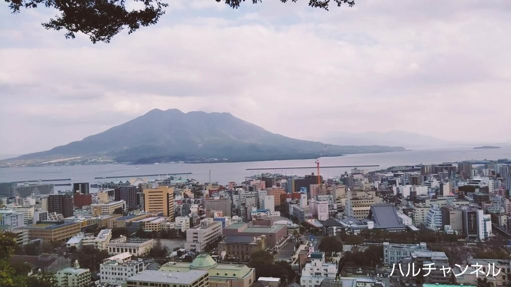 鹿児島の城山展望所から見た景色
